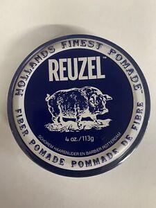 4oz Reuzel Navy Blue Fiber Pomade, Firm