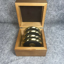 Mahogany Box 4-Gold Trim Coasters Sigill Gloucester County College