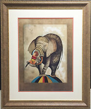 "G Rodo Boulanger ""An Elephant for Kris"" NEWLY CUSTOM FRAMED Lithograph litho art"
