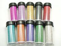 190Gram Glass Nail Art Caviar Beads 3D Micro Microbeads No-hole 10 Storage Jars