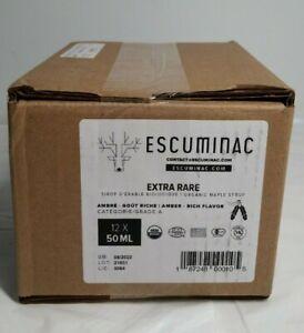 Escuminac Extra Rare Amber Rich Taste Organic Maple Syrup 12X50ML
