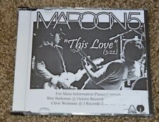 Ultra Rare Maroon 5 This Love Radio Promo CD Single