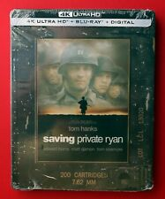 Saving Private Ryan 4K+Blu-ray+Digital Steelbook Collectors Edt, New, Box Ship