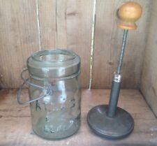 Antique Atlas Jar Food Chopperwith TIn Spring Bounce