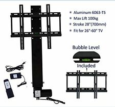 "Plasma/LCD Motorised Television TV Lift Mount Bracket Stroke 700mm 28"" Home Use"