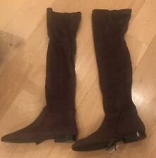 Mango Grey/Taupe over knee Boots BNWT