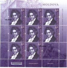 Moldova 2020 Full Sheet L. van Beethoven Personalities who changed the history