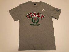 Vintage FILA Italy Shirt Made In Canada Sz Medium Gray Big Logo