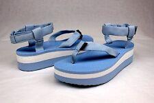 TEVA FLATFORM SANDAL MARLED BLUE WOMENS SANDALS SIZE 8 US
