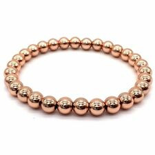 2018 Men Women Fashion 6MM Copper Round Beads Classic Strand Bracelets Jewelry