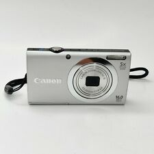 Canon PowerShot A2400 IS HD 16.0MP 5X Zoom  Digital Camera Silver Free Shipping