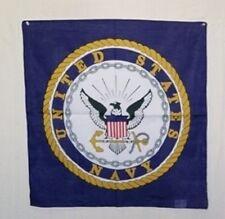 """22""""x22"""" Blue U.S. Navy Seal Emblem Crest Military Bandana"""