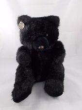 "Black Bear Plush 14"" Westcliff Collection Korea"