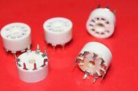 10 x B9A PLASTIC PCB HIGH TEMPERATURE VALVE BASES FOR EL84.ECC81/ECC82/ECC83 etc
