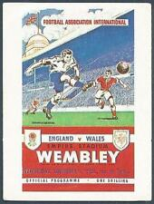 PANINI FOOTBALL 84-#251-ENGLAND V WALES-NOVEMBER 12 1952-PROGRAMME STICKER