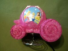 Disney Princess Carriage Coach Night Light Sparkly Pink Plastic Lights Up