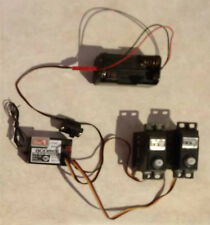 Vintage Acoms Set AR-2 27Mhz Receiver.2 x AS-12 IC Servos with Switch