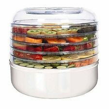 Ronco FD 1005 Whgen Kitchen 5-Tray Electric Food Dehydrator Countertop Layered
