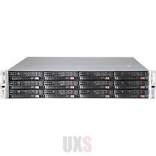 2U 12 Bay Server FreeNAS 11 Direct Attached 4x PCI-E X8 FH PWS-12K8P-SQ X9DRW-3F