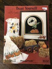 Stoney Creek #27 Treat Yourself  Bag Pumpkin Towel Halloween Cross Stitch 1989
