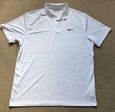 Nike Fit Dry Golf Polo Camisa Blanca XL