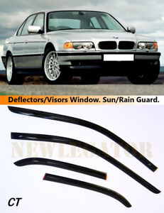 For BMW 7 Sedan E38 1994-2001, Windows Visors Deflector Sun Rain Guard Vent