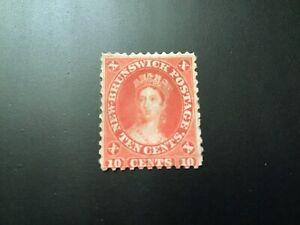 "JPS_Stamps! New Brunswick #9... ""10¢ vermillion"" (vg, light hinge, no gum)"