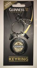 Guinness Label Spinner keyring with two charms •New• Storehouse Exclusive