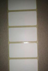 100 WHITE 25mm x 50mm BLANK FRIDGE FREEZER ADHESIVE WRITE FOOD LABELS STICKERS
