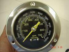 """314D-404U 4"""" Front Flange 0-10000 psi SS Case 1/4"""" NPT SS Connection"""