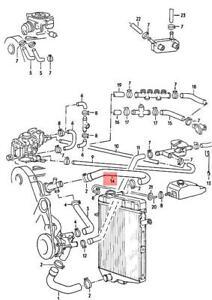 Genuine Volkswagen Coolant Hose NOS Audi Fox Dasher 33 82 83 84 85 32 321121101B