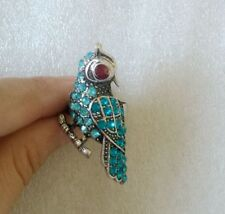 Animal 2Pcs silver bird OWL Alloy Ring With full Crystals Adjustable Ring Women