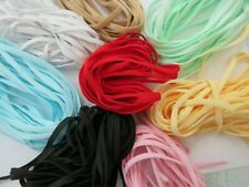 Lady-Muck3: 5mm Coloured Elastic Cord,  Face Covering ⭐ SOFT& VERY STRONG⭐