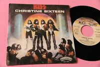 "KISS 7"" 45 CHRISTINE SIXTEEN ORIGINALE ITALIA 1977 EX !!!!!!"