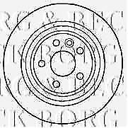 BORG AND BECK Ford Galaxy/S-Max 06- BRAKE DISC Part Num: BBD4587- WAREHOUSE
