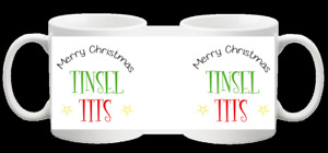 TINSEL T*TS FUNNY RUDE NOVELTY OFFICE PRESENT MUG GIFT CUP 353