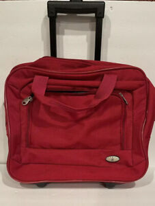 Olympia Rolling Briefcase on 2 Wheels Rolling Laptop Bag Red