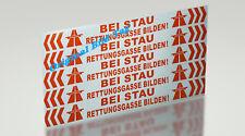 Rettungsgasse bilden Aufkleber 1x  ca. B,H 50 x 4,7 cm Breit Reflex Folie Orange