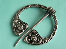 Beautiful Robert Allison Celtic Penannular Solid Silver Brooch ~ Glasgow 1954
