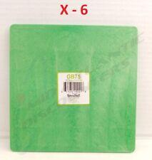"6 Speedball 7-1/2"" Square Green Plastic Bat Pottery Wheel GB75"