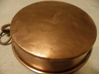Vintage hammered copper au gratin or baking dish