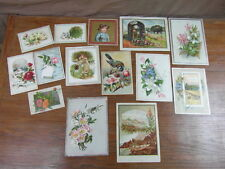 (MZ) LOT DE GRANDS CHROMOS SUR CARTON-FORT circa. 1880 Victorian trade cards