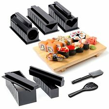 Sushi Making Kit Complete 10 piece Kit, 5 Molds & Utensils DIY Sushi Set Maker