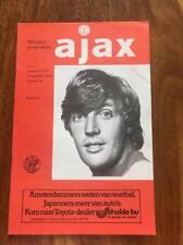 AJAX V MANCHESTER UNITED AWAY 1977 UEFA CUP PROGRAMME MAN UTD LOOK SALE