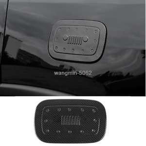 For Jeep Grand Cherokee 2011-18 Carbon Fiber Style Gas Cap Fuel Tank Cover trim