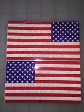"5"" American Flag DARK Subdued 3M Black REFLECTIVE Stickers (x2) Decal USA Fire"