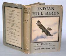 Indian Hill Birds - Salim Ali, HB/DJ, Oxford University Press - 1949