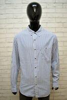 Camicia a Righe Blu Uomo RALPH LAUREN Taglia XL Maglia Manica Lunga Shirt Man