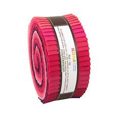 "Kaufman Kona Cotton Solids FRAGRANT FUCHSIA Roll Up 2.5"" Fabric Strips RU-433-40"