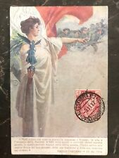 1917 Alessandria Italy Patriotic Postcard cover NAtional Loan WWI